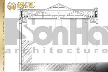 6 Mặt cắt 3 3 biệt thự tân cổ điển pháp tại hà nội sh btcd 0033