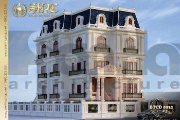 6 Mẫu kiến trúc biệt thự tân cổ điển pháp tại sài gòn sh btcd 0032