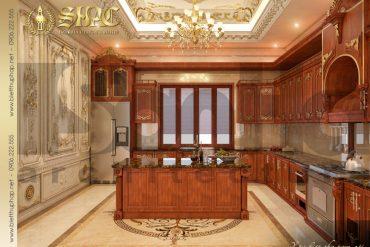 6 Mẫu nội thất phòng bếp biệt thự pháp đẹp tại quảng ninh sh btp 0033