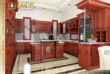 6 Mẫu nội thất phòng bếp biệt thự pháp đẹp tại quảng ninh sh btp 0034