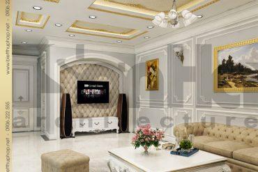 6 Mẫu nội thất phòng sinh hoạt chung biệt thự tân cổ điển đẹp tại hà nội sh btcd 0035