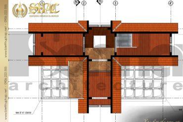 7 Mặt bằng công năng tầng tum biệt thự tân cổ điển đẹp tại quảng ninh sh btcd 0034