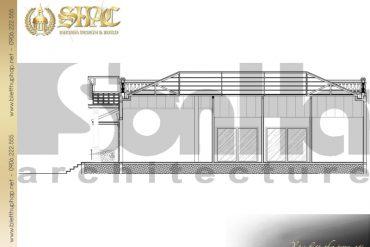 7 Mặt cắt 4 4 biệt thự tân cổ điển đẹp tại hà nội sh btcd 0033