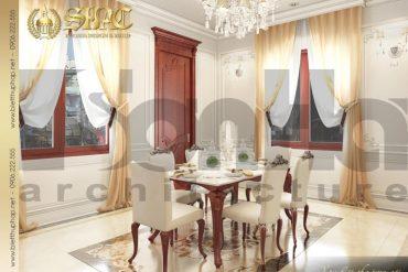 7 Thiết kế nội thất phòng ăn biệt thự pháp đẹp tại quảng ninh sh btp 0034