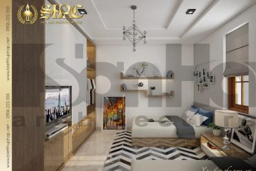 7 Thiết kế nội thất phòng ngủ 2 biệt thự mái thái 1 tầng tại hải phòng sh btcd 0036