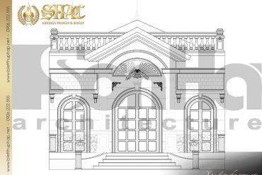8 Mặt đứng biệt thự tân cổ điển pháp tại hà nội sh btcd 0033