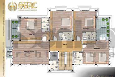 9 Mặt bằng công năng tầng 2 biệt thự tân cổ điển đẹp tại sài gòn sh btcd 0032
