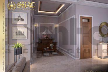 9 Thiết kế nội thất phòng thờ biệt thự mái thái 1 tầng tại hải phòng sh btcd 0036