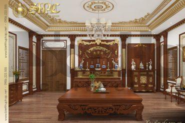9 Thiết kế nội thất phòng thờ biệt thự tân cổ điển đẹp tại hà nội sh btcd 0035