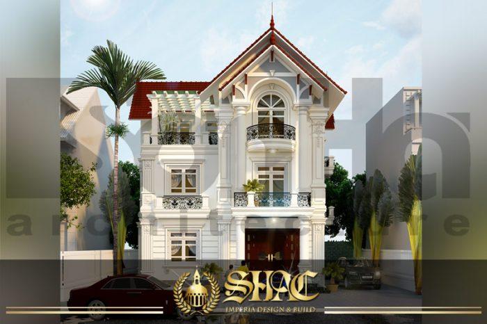BÌA mẫu kiến trúc biệt thự tân cổ điển đẹp tại hưng yên sh btcd 0037