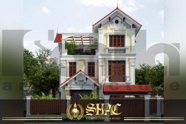 BÌA Mẫu kiến trúc biệt thự tân cổ điển pháp tại quảng ninh sh btcd 0034