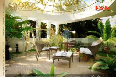 16 Thiết kế tiểu cảnh sân vườn biệt thự lâu đài xa hoa tại Nghệ An SH BTLD 0016