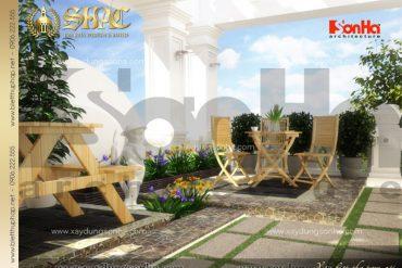 17 Tiểu cảnh sân vườn biệt thự lâu đài pháp tại Nghệ An SH BTLD 0016