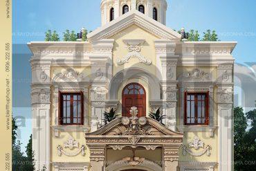 18 Thiết kế kiến trúc biệt thự lâu đài đẹp tại nghệ an sh btld 0016