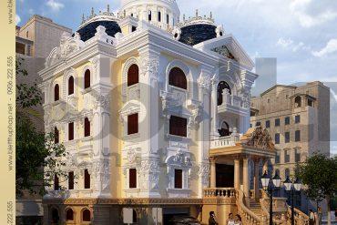 4 Thiết kế kiến trúc biệt thự lâu đài Pháp tại Ninh Bình SH BTLD 0017