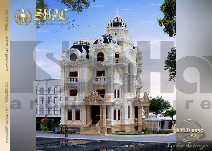 Mẫu biệt thự lâu đài cổ điển thiết kế 4 tầng tại quận 2 -TP.HCM