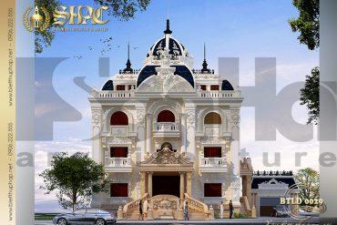 1 Mẫu thiết kế biệt thự lâu đài pháp 3 tầng tại Quảng Ninh SH BTLD 0029