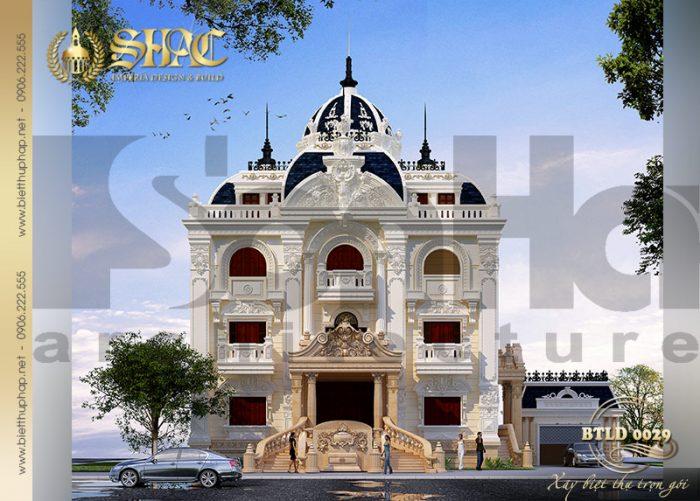 Biệt thự lâu đài cổ điển kiểu pháp 3 tầng diện tích 210m2 xa hoa tại Quảng Ninh