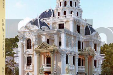 1 Mẫu thiết kế biệt thự lâu đài pháp 4 tầng tại Đà Nẵng SH BTLD 0034