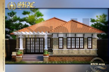 1 Mẫu thiết kế mặt tiền biệt thự tân cổ điển tại Quảng Ninh SH BTCD 0039