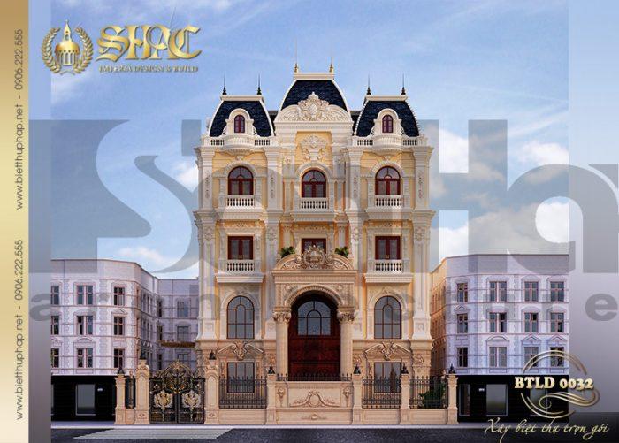 Mẫu thiết kế dinh thự lâu đài cổ điển đồ sộ, sang trọng tại Hà Nội