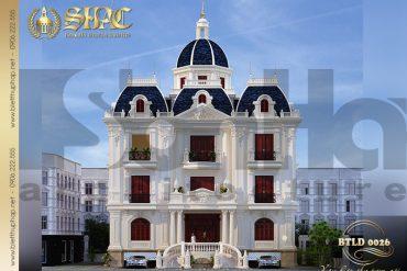 1 Thiết kế biệt thự kiểu lâu đài 3 tầng tại Nam Định SH BTLD 0026