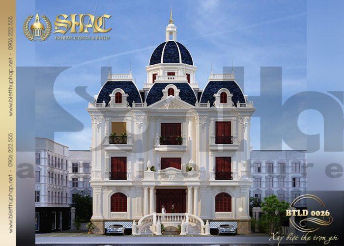 Mẫu thiết kế biệt thự lâu đài cổ điển 3 tầng sang trọng tại TP.Nam Định