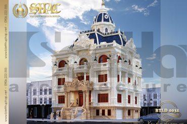 1 Thiết kế biệt thự lâu đài kiểu pháp 5 tầng tại An Giang SH BTLD 0031