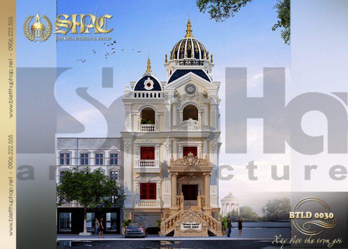 Chiêm ngưỡng kiến trúc mẫu biệt thự cổ điển kiểu lâu đài 3 tầng 1 tum tại Lạng Sơn