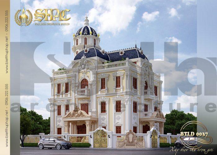 Mẫu biệt thự lâu đài kiến trúc cổ điển thiết kế 3 tầng ấn tượng tại Hải Phòng