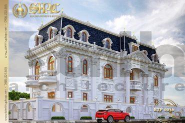 1 Thiết kế mẫu nhà biệt thự đẹp kiểu pháp 3 tầng tại Can Tho SH BTP 0036