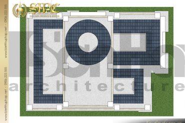10 Bản vẽ mặt bằng công năng tầng mái biệt thự lâu đài SH BTLD 0035 tại Sài Gòn