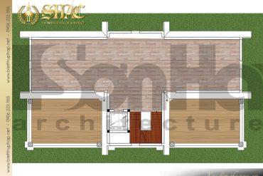 10 Mặt bằng công năng tầng tum biệt thự kiểu Pháp 3 tầng mái thái tại Hưng Yên SH BTP 0037