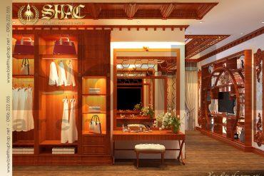 10 Mẫu nội thất phòng ngủ 1 biệt thự lâu đài cổ điển tại Hà Nội SH BTLD 0024