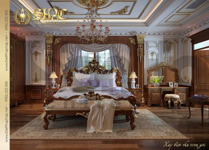 Ý tưởng thiết kế nội thất phòng ngủ cổ điể được chủ đầu tư vô cùng yêu thích