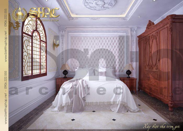 Mẫu phòng ngủ với gam màu trắng tinh khôi cùng nội thất đẹp