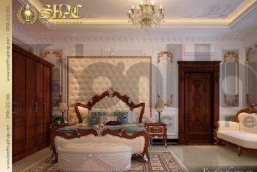 10 Thiết kế nội thất phòng ngủ biệt thự lâu đài kiểu pháp tại An Giang SH BTLD 0031