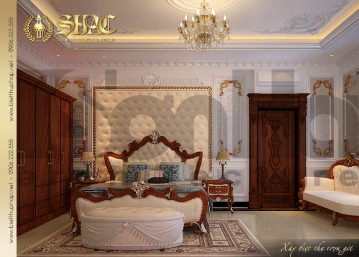Mẫu phòng ngủ ấm cúng, tiêng tư với nội thất cổ điển sang trọng