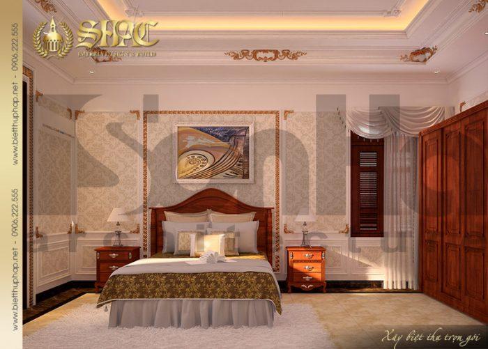 Phòng ngủ cổ điển tiện nghi có nội thất đẹp đậm chất pháp