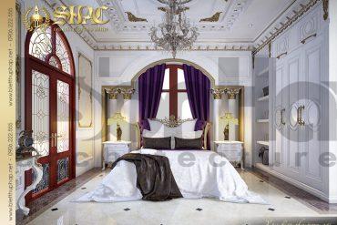 11 Mẫu thiết kế nội thất phòng ngủ biệt thự lâu đài tại Hà Nội SH BTLD 0032