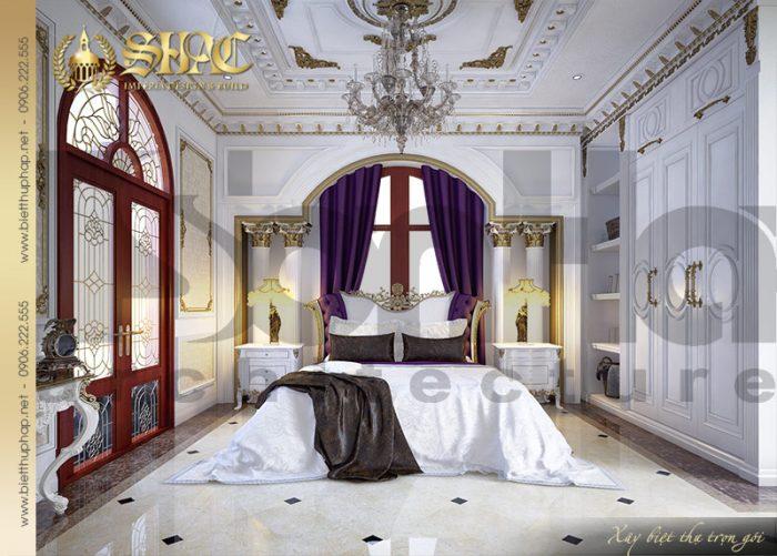 Tiếp tục là một mẫu phòng ngủ hội tụ mọi tinh hoa pháp nhẹ nhàng, sang trọng và đẳng cấp