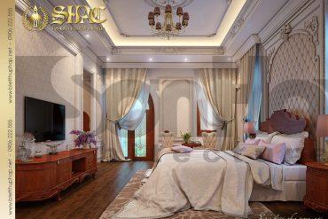 11 Thiết kế nội thất phòng ngủ cổ điển của biệt thự 3 tầng tại Cần Thơ SH BTP 0036