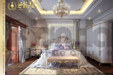 12 Mẫu Thiết kế nội thất phòng ngủ biệt thự lâu đài tại Quảng Ninh SH BTLD 0029