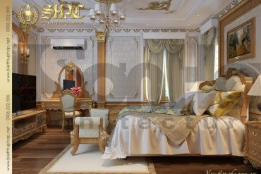 12 Mẫu thiết kế phòng ngủ biệt thự kiểu lâu đài tại Nam Định SH BTLD 0026