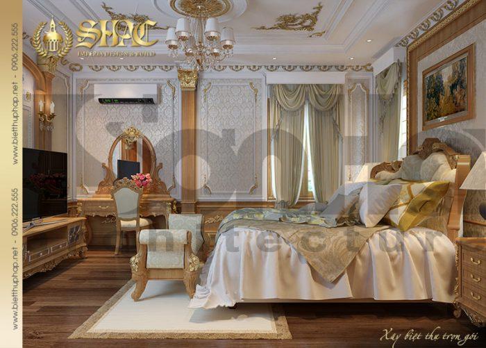 Mọi vật dụng trong căn phòng ngủ đều được KTS Sơn Hà đều tư thiết kế tỉ mỉ