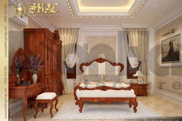 12 Thiết kế nội thất phòng ngủ biệt thự lâu đài pháp 5 tầng tại An Giang SH BTLD 0031