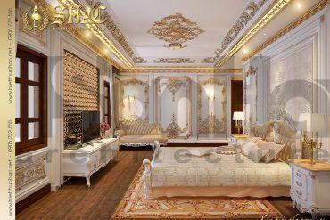 13 Mẫu nội thất phòng ngủ 3 biệt thự kiểu lâu đài pháp  tại Hà Nội SH BTLD 0024