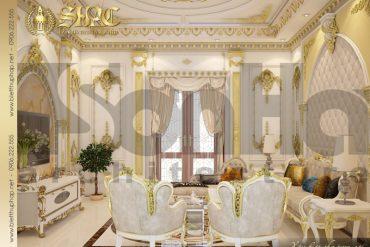 13 Mẫu thiết kế nội thất phòng sinh hoạt chung biệt thự lâu đài tại Hà Nội SH BTLD 0032