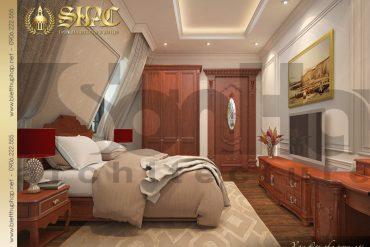 13 Thiết kế nội thất phòng ngủ đẹp mắt của biệt thự cổ điển kiểu Pháp 3 tầng tại Cần Thơ SH BTP 0036