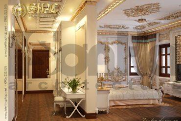 14 Mẫu phòng ngủ 3 biệt thự lâu đài cổ điển tại Hà Nội SH BTLD 0024